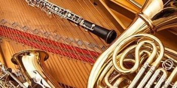 woodwind and brass instruments inside pianoMy other photo and video files on music and dance theme